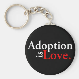 Adoption Is Love Keychain