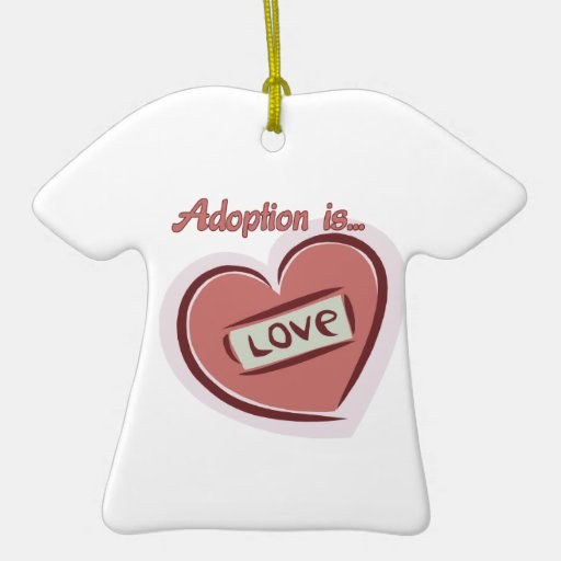 Adoption is Love Christmas Tree Ornament