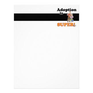 adoption is super letterhead
