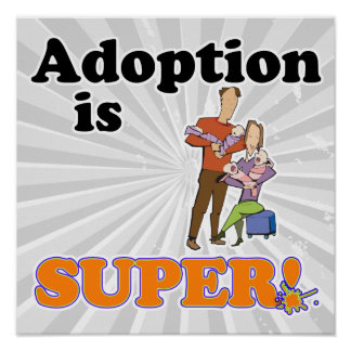adoption is super poster