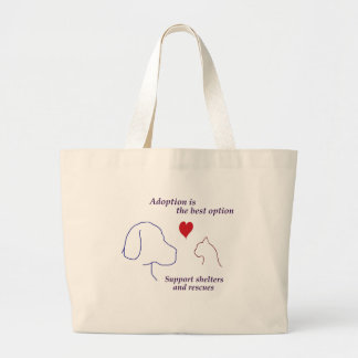 Adoption is the Best Option Canvas Bags