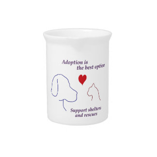 Adoption is the Best Option Drink Pitchers