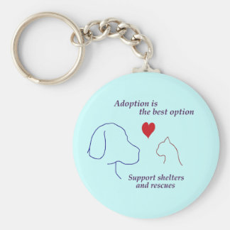 Adoption is the Best Option Keychain