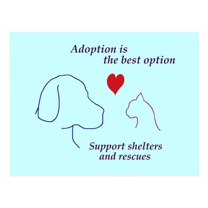 Adoption is the Best Option Postcard