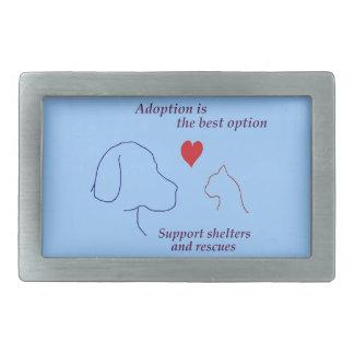 Adoption is the Best Option Rectangular Belt Buckle