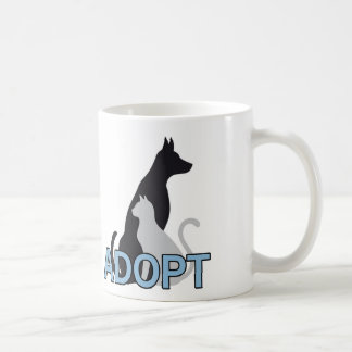 Adoption Is The Solution Animal Rescue Mug