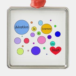 Adoption Journey of Heart Circles Metal Ornament
