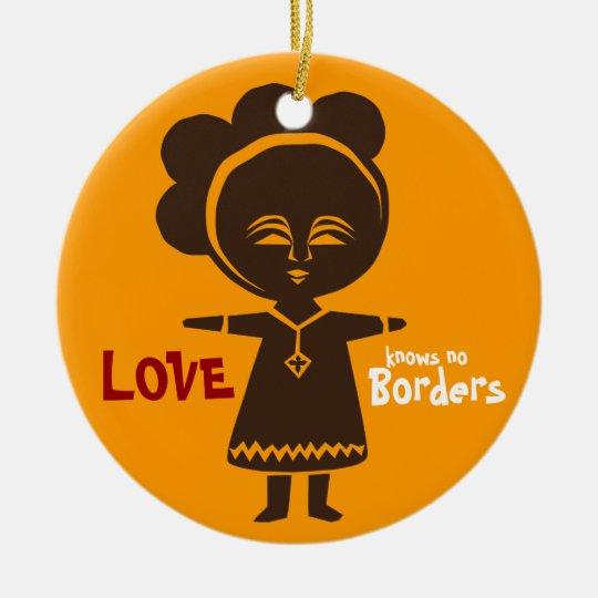 Adoption Love Girl Ornament