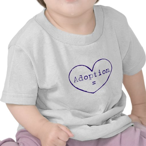 Adoption = love in blue tshirts