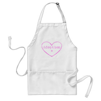 Adoption = love in pink adult apron
