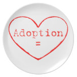 Adoption = Love Party Plate