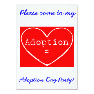 Adoption = Love White Adoption Day Party Invite
