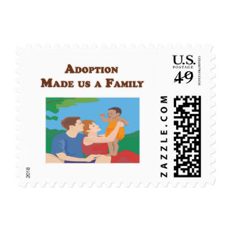 Adoption Made us a Family Postage Stamp