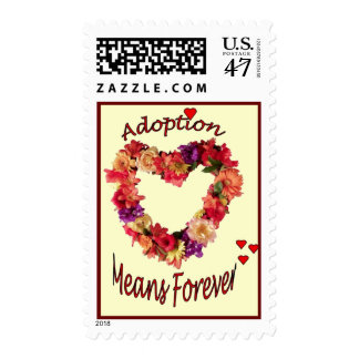 Adoption Means Forever Custom Postage Stamp