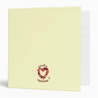 Adoption Means Forever Floral Heart Journal Binder