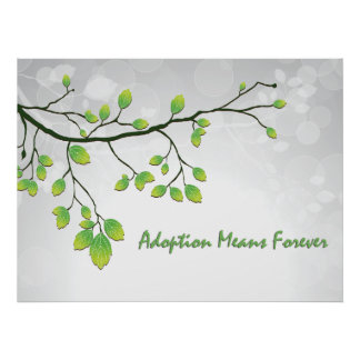 Adoption Means Forever Poster