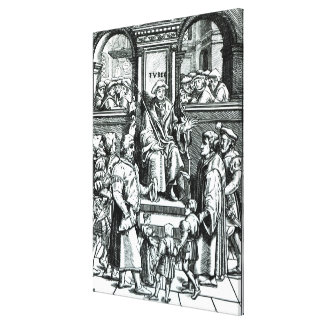Adoption of orphan children in the Inferior Court Canvas Print