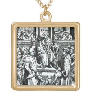 Adoption of orphan children in the Inferior Court Square Pendant Necklace