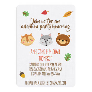 Adoption Party Invitations Announcements Zazzle