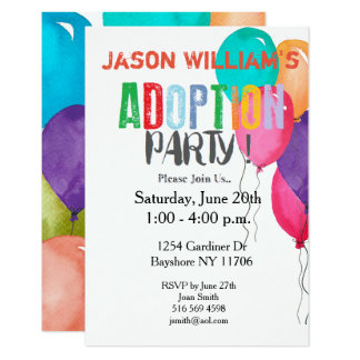 adoption party collection card - Adoption Party Invitations
