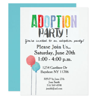 adoption party invitations  announcements  zazzle, invitation samples