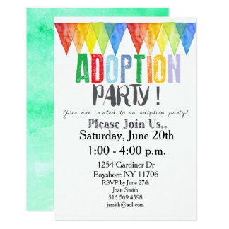 Adoption Party Invitations Purplemoon Co