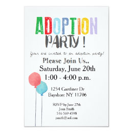 Adoption Party Invitations Announcements Zazzle