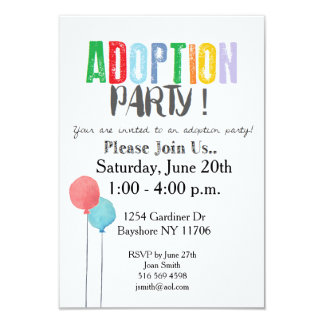 Adoption Party Invites