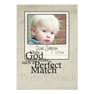 "adoption photo  announcement 5"" x 7"" invitation card"