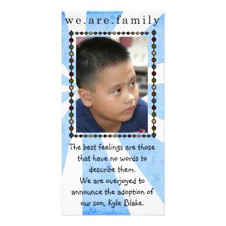 adoption photo card