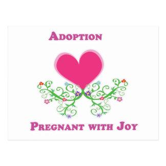 Adoption Pregnant with Joy Postcard