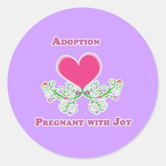 Adoption Pregnant with Joy Sticker/Envelope Seal Classic Round Sticker