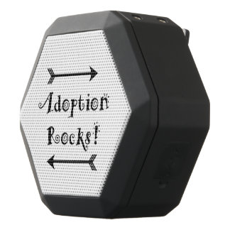 Adoption Rocks! Black Bluetooth Speaker