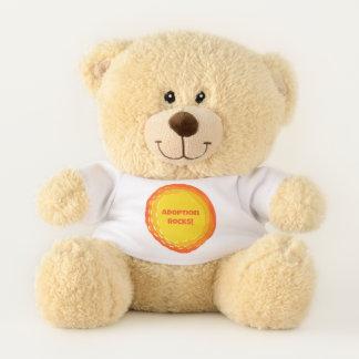 Adoption Rocks - Forever Family - Adpotion Design Teddy Bear