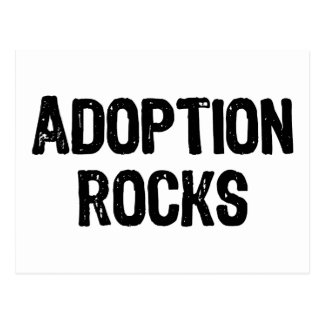 Adoption Rocks Postcard