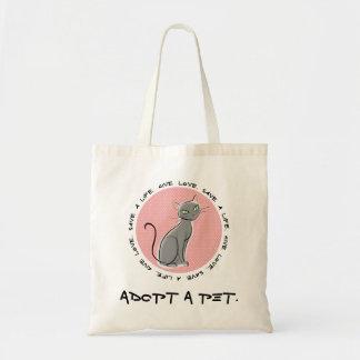 Adoption Saves Lives Tote Bag