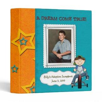 adoption scrapbook/ photo album. 3 ring binder