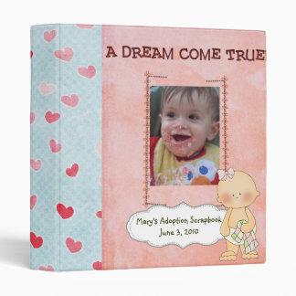 adoption scrapbook/ photo album. 3 ring binders