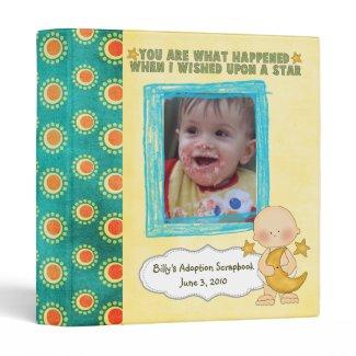 adoption scrapbook/ photo album. binder