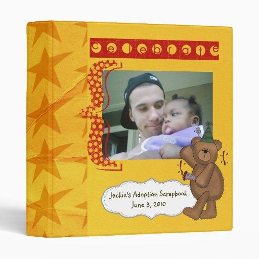 adoption scrapbook/ photo album. vinyl binders