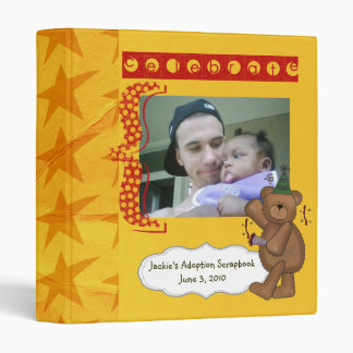adoption scrapbook/ photo album. vinyl binder
