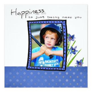 """Adoption Shower Invite 5.25"""" Square Invitation Card"""