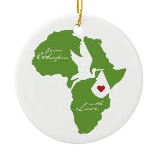 Adoption Stork Africa Ornament ornament