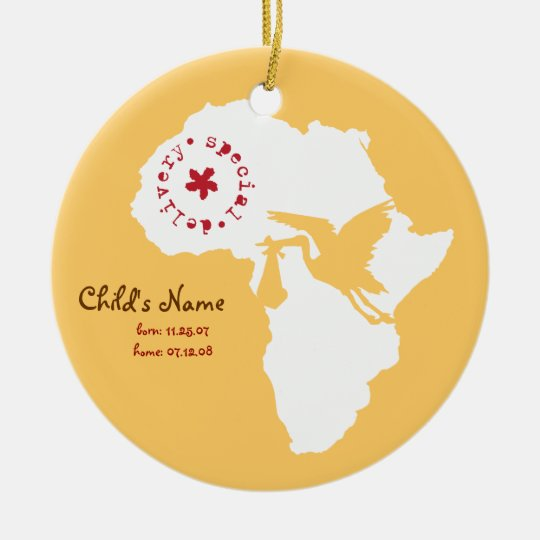 Adoption Stork Africa Ornament