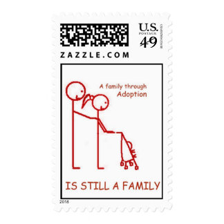 Adoption Stroller Red Postage Stamps
