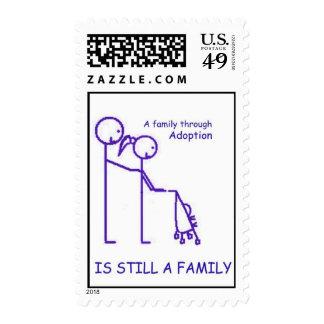 Adoption Strolller Blue Postage Stamps