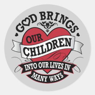 Adoption Tattoo Classic Round Sticker