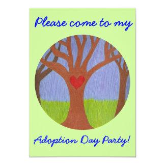 "Adoption Tree Adoption Day Party invitation 5"" X 7"" Invitation Card"