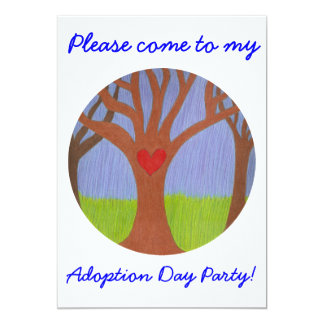 Adoption Tree Adoption Day Party invitation