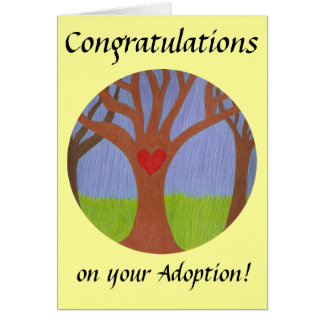 Adoption Tree Congratulations on your Adoption! Greeting Cards